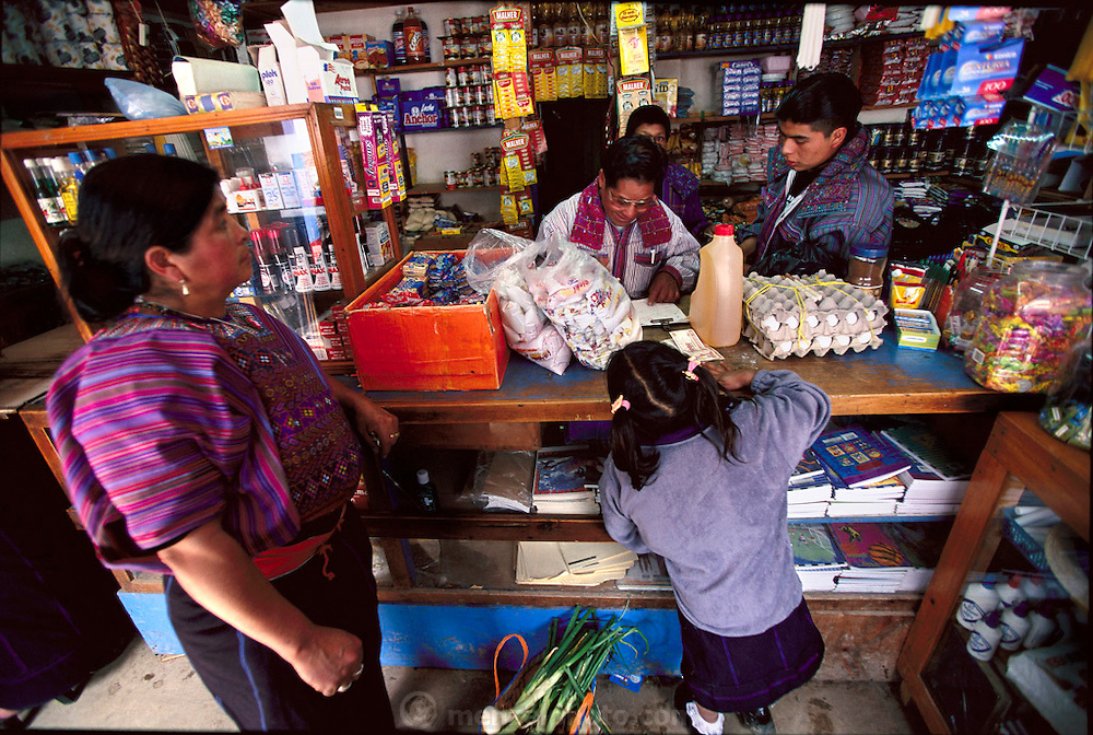 Susana Pérez Matias shops at the local market in Todos Santos Cuchumatán, Guatemala,(Supporting image from the project Hungry Planet: What the World Eats.) The Mendoza family of Todos Santos Cuchumatán, Guatemala, is one of the thirty families featured, with a weeks' worth of food, in the book Hungry Planet: What the World Eats.