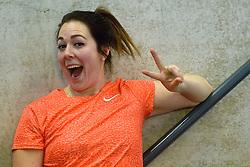 27-02-2016 NED: NK Atletiek Indoor, Apeldoorn<br /> Melissa Boekelman pakt de NK titel bij het kogelstoten.