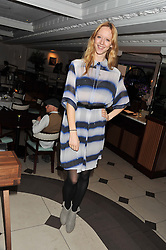 MORWENNA LYTTON COBBOLD at a party hosted by TopShop to celebrate 10 years of NEWGEN and 10 years of supporting Brtish Fashion held at Le Baron, 29 Old Burlington Street, London W1 on 21st February 2012.
