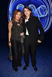 MIMI NISHIKAWA BAILEY and SASCHA BAILEY at the Warner Music & Ciroc Brit Awards party, Freemasons Hall, 60 Great Queen Street, London England. 22 February 2017.