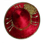 Silk and gold threaded cardinals cap/hat of Cardinal Alfrink (1900-1987), Archbishop of Utrecht