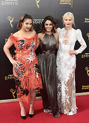 Kether Donohue,Vanessa Hudgens,Julianne Hough   attend  2016 Creative Arts Emmy Awards - Day 2 at  Microsoft Theater on September 11th, 2016  in Los Angeles, California.Photo:Tony Lowe/Globephotos