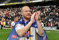 Football - 2018 / 2019 Sky Bet EFL League Two - MK Dons vs. Mansfield<br /> <br /> Milton Keynes Dons' Robbie Simpson celebrates promotion after their 1-0 victory, at Stadium MK.<br /> <br /> COLORSPORT/ASHLEY WESTERN