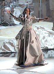 Rihanna performing at the MTV Video Music Awards 2016, Madison Square Garden, New York City.