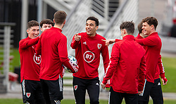 CARDIFF, WALES - Monday, March 29, 2021: Wales' Ben Cabango during a training session at the Vale Resort ahead of the FIFA World Cup Qatar 2022 Qualifying Group E game against the Czech Republic. (Pic by David Rawcliffe/Propaganda)