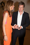 HEATHER KERZNER; HUGH GRANT,  Masterpiece Midsummer Party in aid of Marie Curie hosted by Heather Kerzner. Chelsea Hospital. London. 2 July 2013.