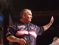 Phil Taylor talking to Sky after beating Ronnie Baxter..2010 Whyte & MacKay Premier League Darts week nine, Glasgow SECC..©2010 Michael Schofield. All Rights Reserved.