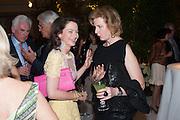 CORRINE FLICK; JULIA PEYTON-JONES, The Cartier Chelsea Flower show dinner. Hurlingham club, London. 20 May 2013.