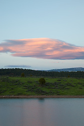 """""""Prosser Reservoir Sunset 3"""" - This sunset was photographed at Prosser Reservoir in Truckee, CA."""
