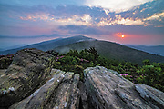 Evening vista from Jane Bald, Appalachian Trail