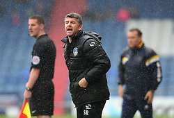 Oldham Athletic manager Stephen Robinson shouts - Mandatory by-line: Matt McNulty/JMP - 03/09/2016 - FOOTBALL - Sportsdirect.com Park - Oldham, England - Oldham Athletic v Shrewsbury Town - Sky Bet League One
