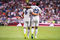 Real Madrid's player Nacho and Danilo during the XXXVII Santiago Bernabeu Trophy in Madrid. August 16, Spain. 2016. (ALTERPHOTOS/BorjaB.Hojas)
