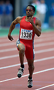 Ato Boldon of Trinidad and Tobago in the in the first round of the 100 meters in the IAAF World Championships in Athletics at Stade de France on Sunday, Aug, 24, 2003.