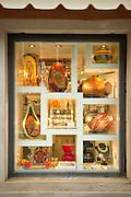 Murano Glass for sale in a shop window. Island of Murano.Venice, Italy, Europe