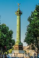 Paris, France - June 8, 2005: place de la bastille column in the city of Paris in France on june 8th, 2005