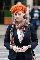 © Licensed to London News Pictures. 10/3/2017. London, UK. Food blogger JACK MONROE arrives at the High Court.  Jack Monroe is claiming libel damages after 'serious harm' was caused over tweets from the Daily Mail columnist Katie Hopkins. Photo credit: Peter Macdiarmid/LNP
