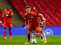 LONDON, ENGLAND - Thursday, October 8, 2020: Wales' Joe Rodon during the International Friendly match between England and Wales at Wembley Stadium. The game was played behind closed doors due to the UK Government's social distancing laws prohibiting supporters from attending events inside stadiums as a result of the Coronavirus Pandemic. England won 3-0. (Pic by David Rawcliffe/Propaganda)