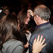 NLD/Amsterdam/20101022 - Televiziergala 2010 - uitreiking Radioring, Jeroen van Inkel met zijn dochters Isabel en Teddy