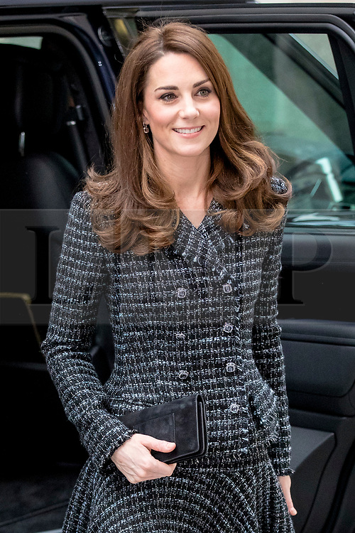 © Licensed to London News Pictures. 13/02/2019. London, UK. The Duchess of Cambridge arrives at The Royal Foundation's 'Mental Health in Education' conference in London. The conference will discuss how mental health issues can be tackled in schools. Photo credit: Rob Pinney/LNP