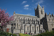 Christ Church Cathedral on 07th April 2017 in Dublin, Republic of Ireland. Founded c.1028, the medieval Christ Church Cathedral is formally known as the Cathedral Church of the Holy Trinity. It's the cathedral of the United Dioceses of Dublin and Glendalough.