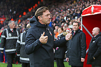 Football - 2018 / 2019 Premier League - Southampton vs. Arsenal<br /> <br /> Southampton Manager Ralph Hasenhuttl is introduced to the home fans at St Mary's Stadium Southampton<br /> <br /> COLORSPORT/SHAUN BOGGUST