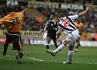 Photo: Rich Eaton.<br /> <br /> Wolverhampton Wanderers v West Bromwich Albion. The FA Cup. 28/01/2007. West Broms Kevin Phillips scores early in the first half to make the score 2-0