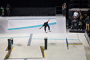 Chris Joslin, USA, during the men's semi final of the Street League Skateboarding World Tour Event at Queen Elizabeth Olympic Park on 26th May 2019 in London in the United Kingdom. The SLS World Tour Event will take place at the Copper Box Arena during the 25-26 May, 2019.