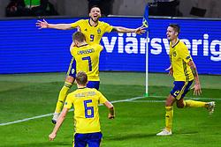 November 20, 2018 - Stockholm, SWEDEN - 181120 Marcus Berg of Sweden celebrates after 2-0 during the Nations League football match between Sweden and Russia on November 20, 2018 in Stockholm  (Credit Image: © Simon HastegRd/Bildbyran via ZUMA Press)