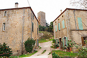 Chateau de Nouvelles. Fitou. Languedoc. The old tower. France. Europe.