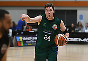 Supercity Rangers Dillon Boucher directs in the Sal's Pizza NBL Round 8 match, Hawkes Bay Hawks vs Auckland Rangers, Pettigrew Green Arena, Napier, Saturday, June 16, 2018. Copyright photo: Kerry Marshall / www.photosport.nz
