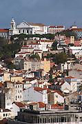 Convent Convento Nossa Senhora da Graca. City view. Lisbon, Portugal