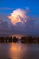 Towering cumulus clouds over the Atlantic ocean near Miami. WATERMARKS WILL NOT APPEAR ON PRINTS OR LICENSED IMAGES.