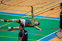 Adam White of Orion in action during the league match between Active Living Orion vs. Amysoft Lycurgus on March 20, 2021 in Doetinchem.