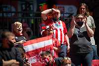 Lincoln City fans in fine voice<br /> <br /> Photographer Chris Vaughan/CameraSport<br /> <br /> The EFL Sky Bet League One Play-Off Final - Blackpool v Lincoln City - Sunday 30th May 2021 - Wembley Stadium - London<br /> <br /> World Copyright © 2021 CameraSport. All rights reserved. 43 Linden Ave. Countesthorpe. Leicester. England. LE8 5PG - Tel: +44 (0) 116 277 4147 - admin@camerasport.com - www.camerasport.com