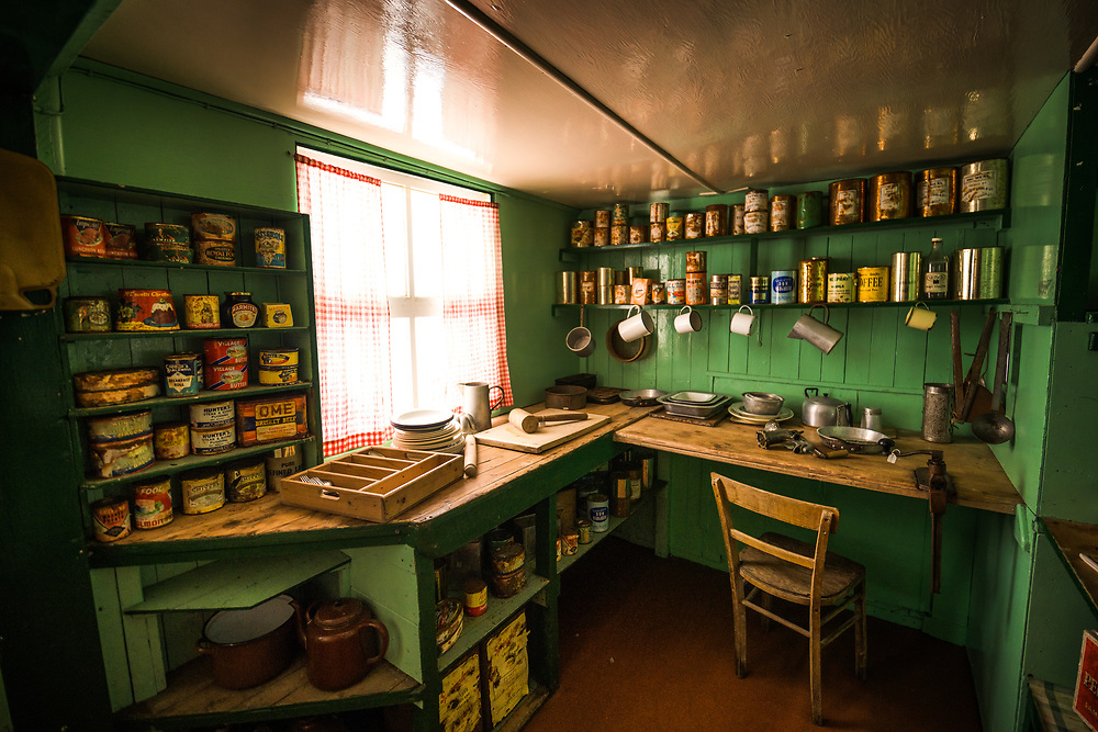 Port Lock Roy Kitchen , the antartic British Base.