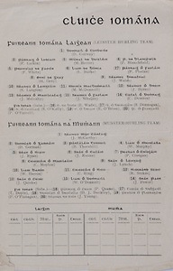 Interprovincial Railway Cup Football Cup Final, 17.03.1942, 03.17.1942, 17th March 1942,  Ulster 1-10, Munster1-05, .Interprovincial Railway Cup Hurling Cup Final, 17.03.1942, 03.17.1942, 17th March 1942,Munster 4-09, Leinster 4-05, Munster Hurling Team, J McCarthy, D Gorman, B Thornhill, W Murphy, J Ryan, J Keane, P Creegan, C Moylan, J Lynch, W Barron, C Ring, R Stokes, J Quirke, W O'Donnell, J Power, E Wade, S Donnegan, S O'Kelly, E O'Brien, P O'Farrell, Leinster Hurling Team, D Conway, P Larkin, M Butler, P Blanchfield, F White, L Burke, P Phelan, H Grey, J Walsh, S Langton, M McDonnell, J Byrne, J Mulcahy, J Whelan, C Downes, P Quane, T Doyle, D J Buckley, P O'Flanagan, J Young,