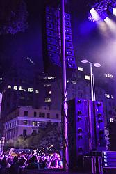 BTS. Cape Town Jazz Festival Free Community Concert, 29 March 2017. Greenmarket Square. Photo by Alec Smith/imagemundi.com