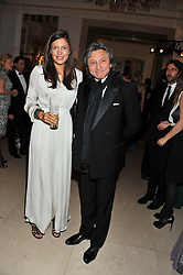 AMANDA SHEPPARD and LEON MAX at a dinner and dance hosted by Leon Max for the charity Too Many Women in support of Breakthrough Breast Cancer held at Claridges, Brook Street, London on 1st December 2011.