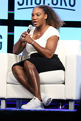"Tennis Great SERENA WILLIAMS Speaks At ""Shop.Org"" American Express Stage Sands Expo Center Las Vegas, Nv September 14, 2018. 14 Sep 2018 Pictured: Serena Williams. Photo credit: KWKC/MEGA TheMegaAgency.com +1 888 505 6342"