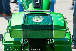 Custom bagger show at the Iron Horse Saloon during Daytona Beach Bike Week 2015. FL, USA. Tuesday March 10, 2015.  Photography ©2015 Michael Lichter.