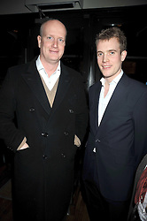 Left to right, TOM KENYON-SLANEY and FRANCOIS O'NEILL at the opening of the Brompton Bar & Grill, 243 Brompton Road, London SW3 on 11th March 2009.