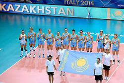 23-09-2014 ITA: World Championship Nederland - Kazachstan, Verona<br /> Nederland wint de opening wedstrijd met 3-0 / Line up