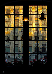 View out the window from the second floor of the famous cafe Le Roy d'Espagne on the Grand Place in Brussels. (Photo © Jock Fistick)
