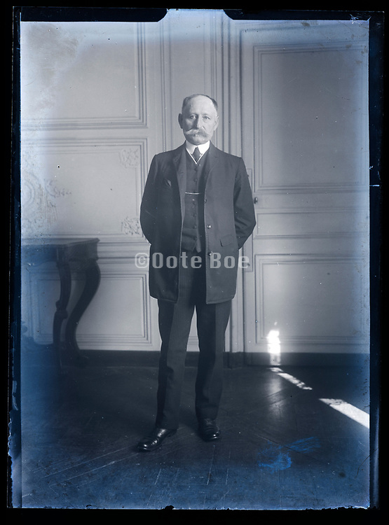 portrait of a standing adult man France ca 1920s