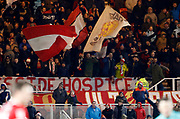 Middlesbrough fans during the EFL Sky Bet Championship match between Middlesbrough and Leeds United at the Riverside Stadium, Middlesbrough, England on 2 March 2018. Picture by Paul Thompson.