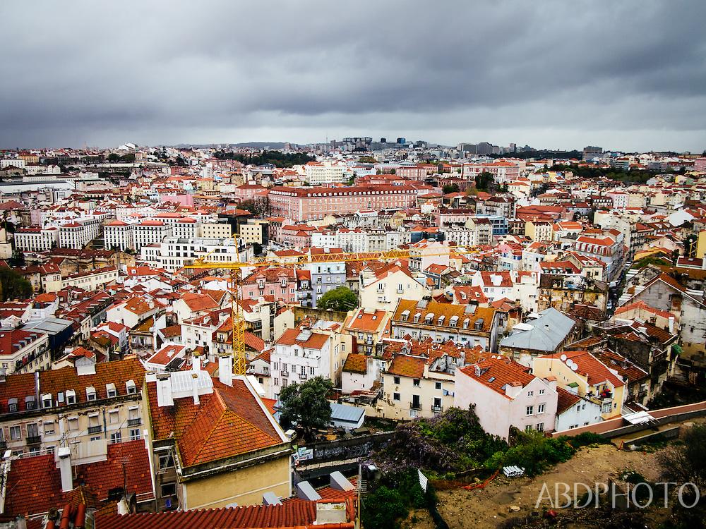 Lisbon, Portugal, yellow tram