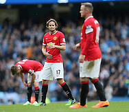 Manchester United's Daley Blind looks on dejected<br /> <br /> - Barclays Premier League - Manchester City vs Manchester Utd - Etihad Stadium - Manchester - England - 2nd November 2014  - Picture David Klein/Sportimage
