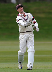 Somerset's Alex Barrow - Photo mandatory by-line: Harry Trump/JMP - Mobile: 07966 386802 - 23/03/15 - SPORT - CRICKET - Pre Season Fixture - Day 1 - Somerset v Glamorgan - Taunton Vale Cricket Club, Somerset, England.