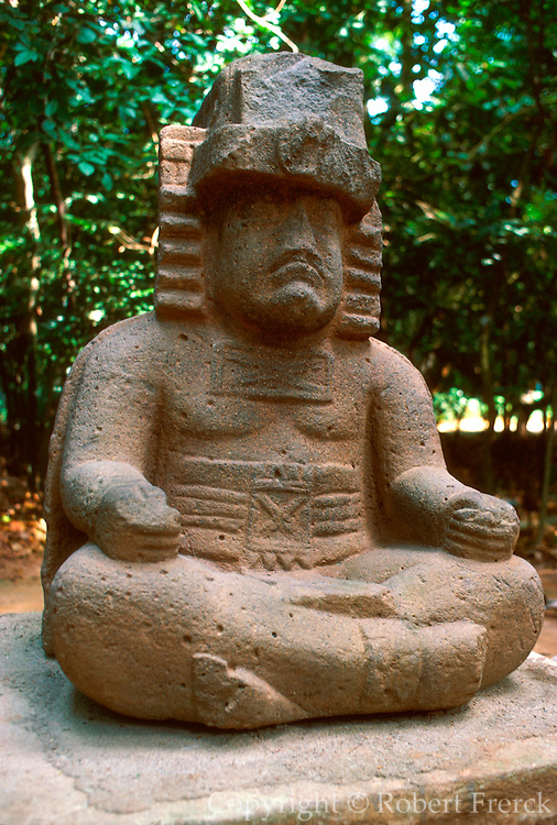 MEXICO, TABASCO, OLMEC stone sculpture in La Venta Museum