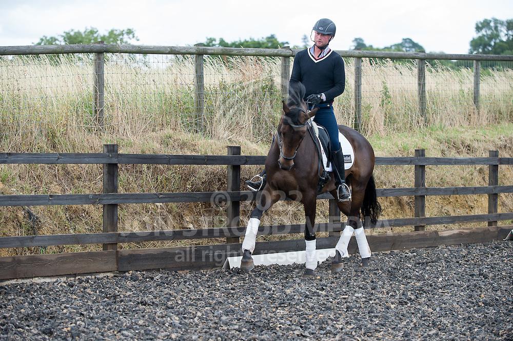 Shoulder In - Nick Lawson Dressage, Bredon Norton, Gloucestershire, United Kingdom - 4 August 2015